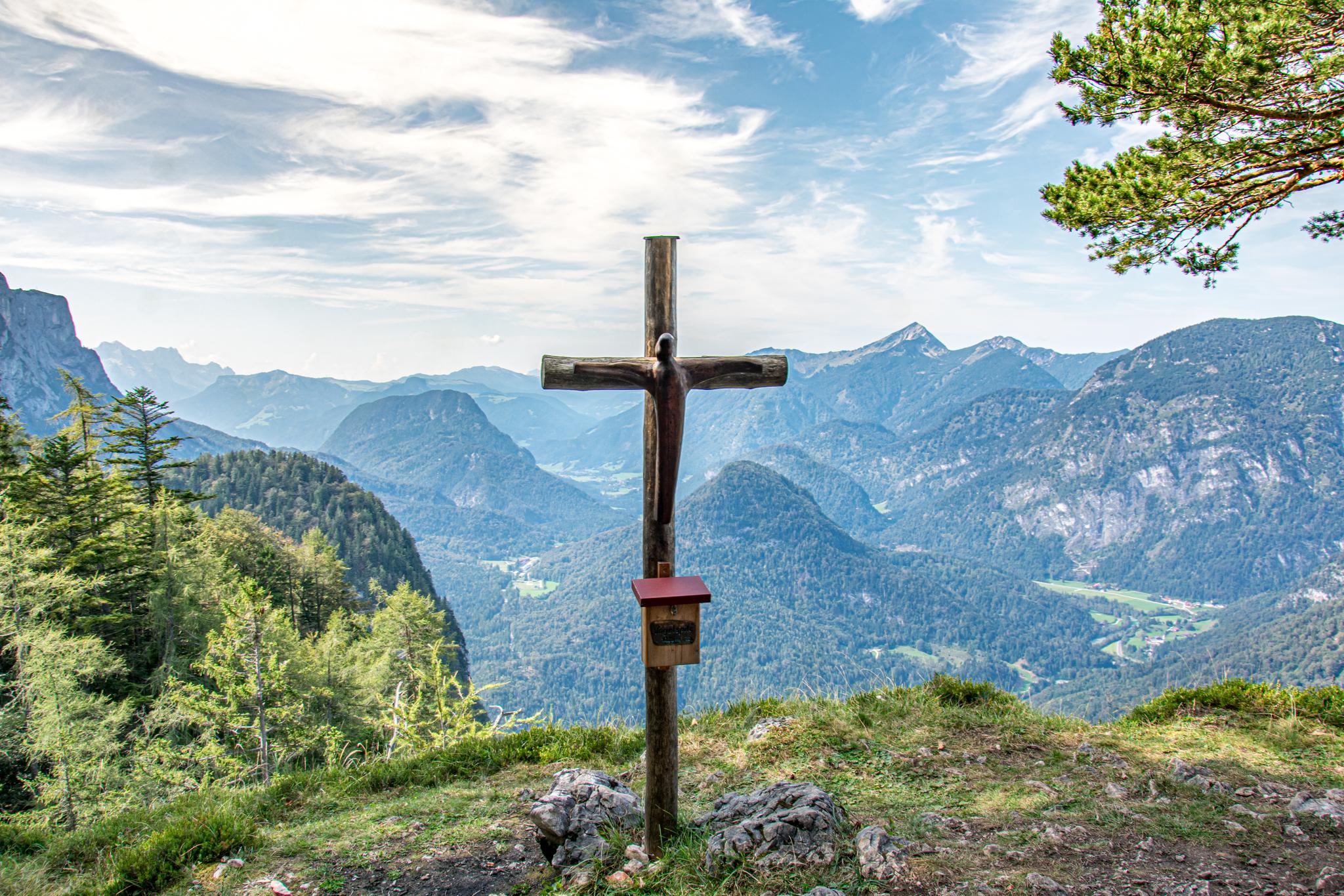 Gipfelkreuz Vogelspitz Lattengebirge