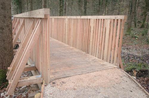 Eine der zwei Brücken auf dem Umgehungsweg.