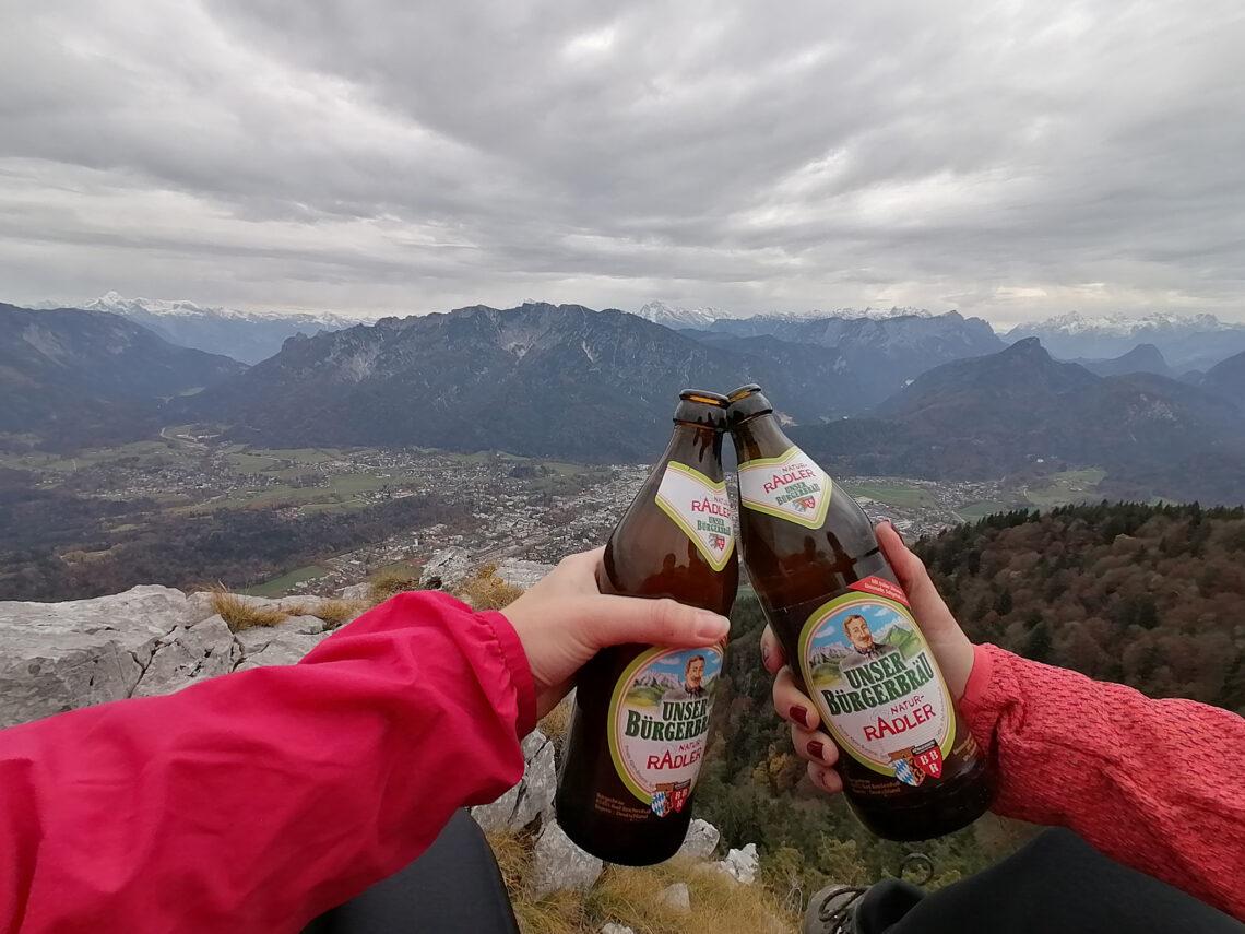 Gipfelbier am Fuderheuberg