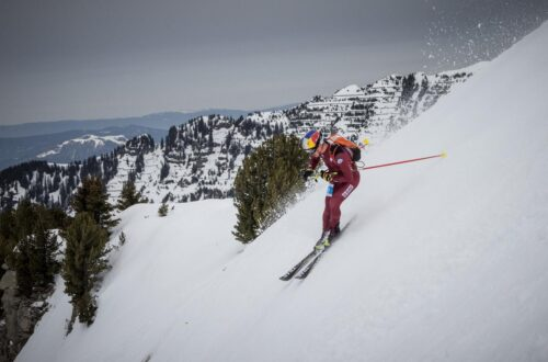 Toni Palzer beim Individual Weltcuprennen im französischen Skiort Flaine t.