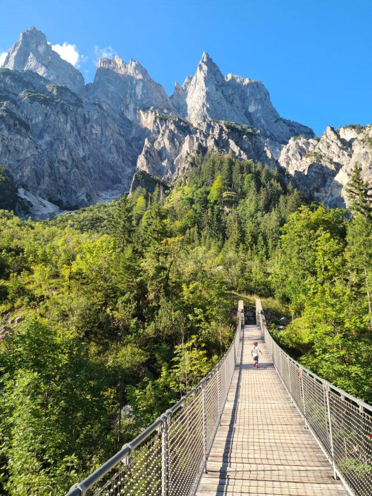 Die Nationalpark-Hängebrücke im Klausbachtal